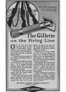 Wojenna reklama Gillette